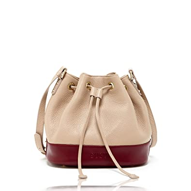 6a7ffeafb5 Tan Bucket Purse Beige Leather Crossbody Bags For Women Taupe Crossover Drawstring  Purses and Handbags For
