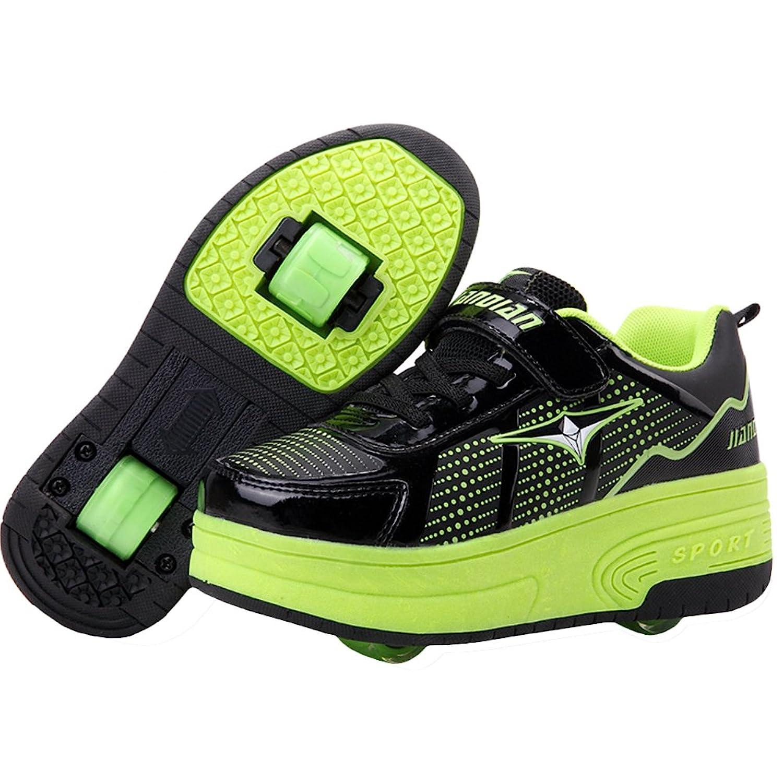 Roller shoes - Ke Unisex Kids Wheels Sneakers Roller Shoes Skates Sports Flashing Shoes Rollerblades Inline Skates