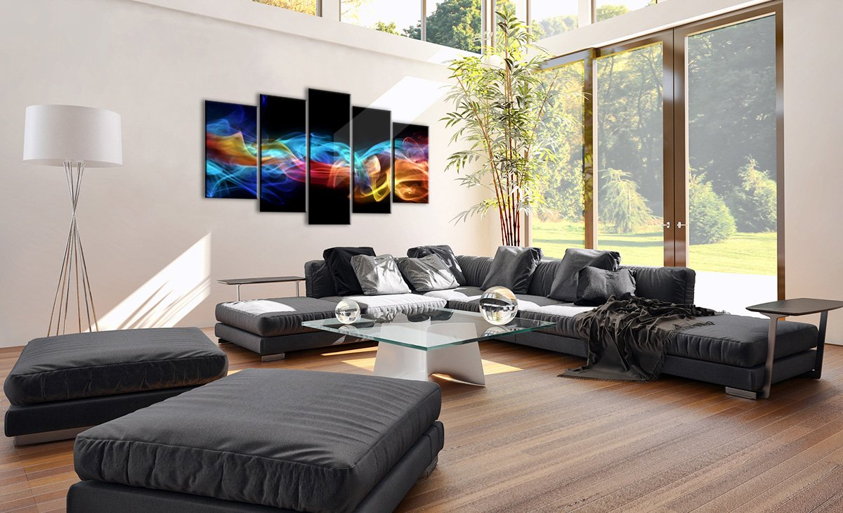 Bild auf Glas Glas Glas - Glasbilder - fünf Teile - Breite  160cm, Höhe  85cm - Bildnummer 2171 - fünfteilig - mehrteilig - zum Aufhängen bereit - Bilder - Kunstdruck - GEA160x85-2171 4641b3
