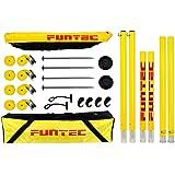 Funtec Pro Beach Set - transportable Beachvolleyball-Netzanlage für Top-Sport