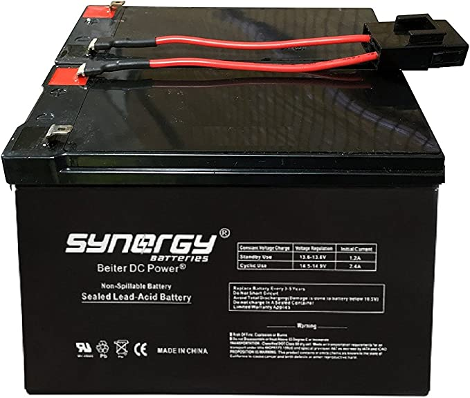 UPSBatteryCenter Compatible Replacement Battery Set for APC Smart-UPS XL 2200VA SUA2200XL