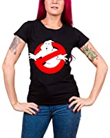 Officially Licensed Merchandise Ghostbusters Distressed Logo Girly T-Shirt