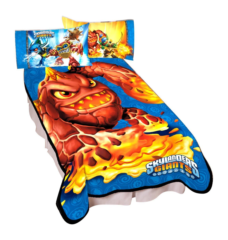 Activisions Skylanders Gaming Monster Microraschel Blanket, 62 by 90-Inch