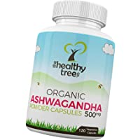 Organic Ashwagandha Capsules - 100% Natural Ayurvedic Adaptogenic Herb for Mind, Body and Spirit - Ashwagandha Root Powder Capsules by TheHealthyTree Company