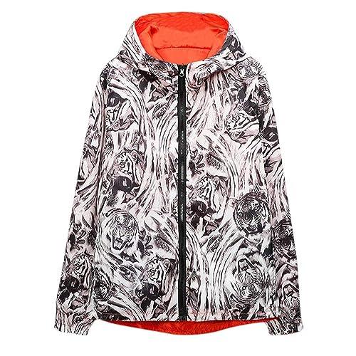 zarupeng Sudadera con capucha de invierno para hombre Cáscara suave Con dos caras impresa impermeable chaqueta exterior con capucha chaqueta exterior: ...