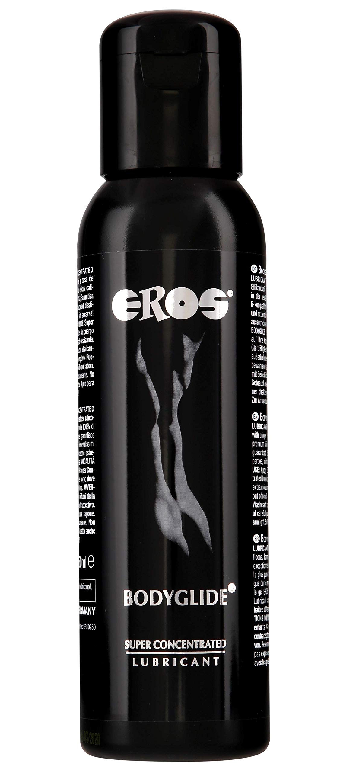 Megasol EROS Bodyglide Super Concentrated Body Gel - Silicon Based Personal Lubricant. Latex Condom Safe, Ultra Long-Lasting Sex Lube Without Parabens or Glycerin ~ 250 mL by EROS