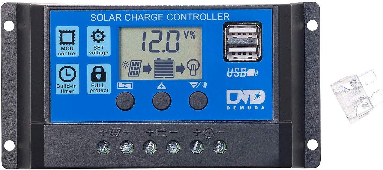 30A 12V 24V Solarregler PWM Solar Regler Laderegler für Lithium-Batterie Solar