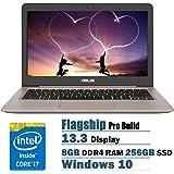 2017 ASUS ZenBook UX310UA 13.3 Inch Full HD Flapship Edition High Performance Laptop PC, Intel Core i7-6500U Dual-Core, 8GB DDR4, 256GB SSD, Backlit Keyboard, Windows 10, Rubedo Gold