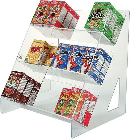 Caja expositora para cereales   Desayuno Buffet Cereal Rack   Mini caja organizadora de cereales   Armario de almacenamiento estantes: Amazon.es: Hogar