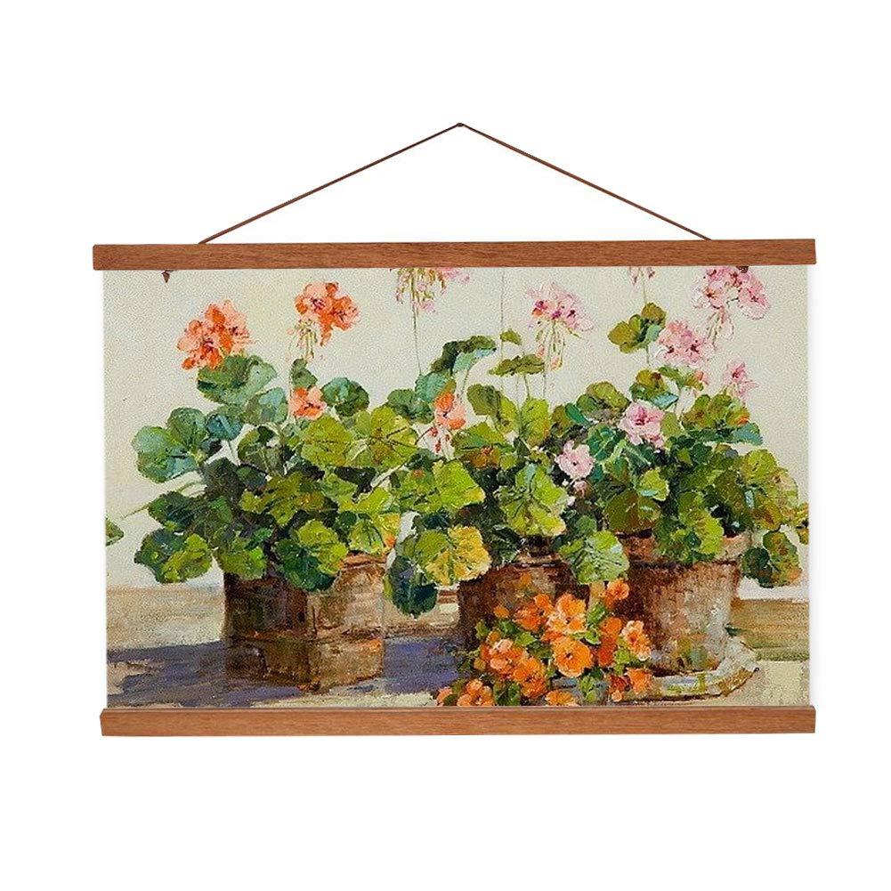 Magnetic Wooden Photo Frame DIY Custom Poster Artwork Canvas Print Hanger for Home Decoration(21cm/8.26in) Fdit
