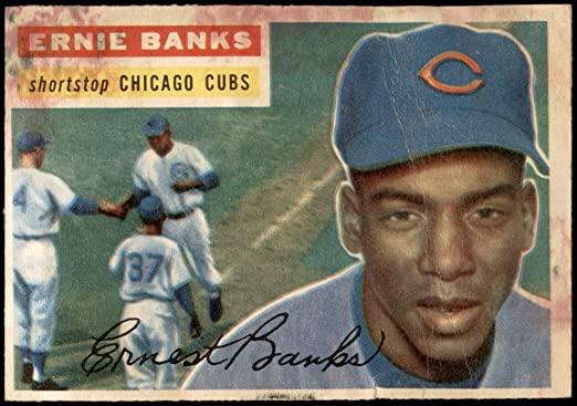 2015 Topps Highlight Of The Year #H-10 Ernie Banks Cubs Baseball Card NM-MT