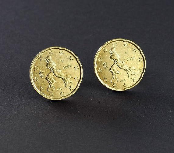 Manschettenknöpfe 20 Euro Cent Italy Münzen Amazonde Handmade