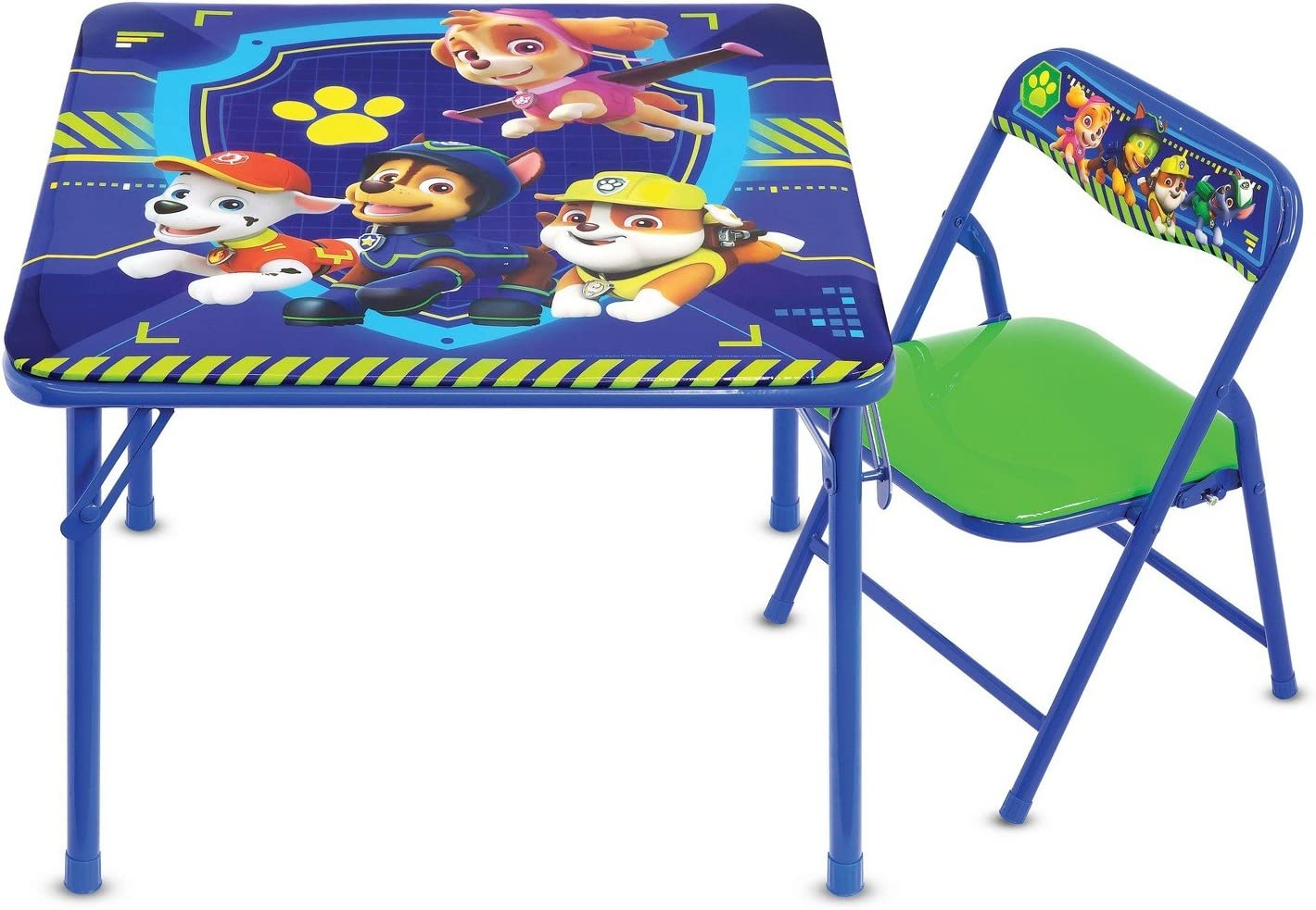 Paw Patrol Junior Table & Chair Set, Folding Table & Padded Chair