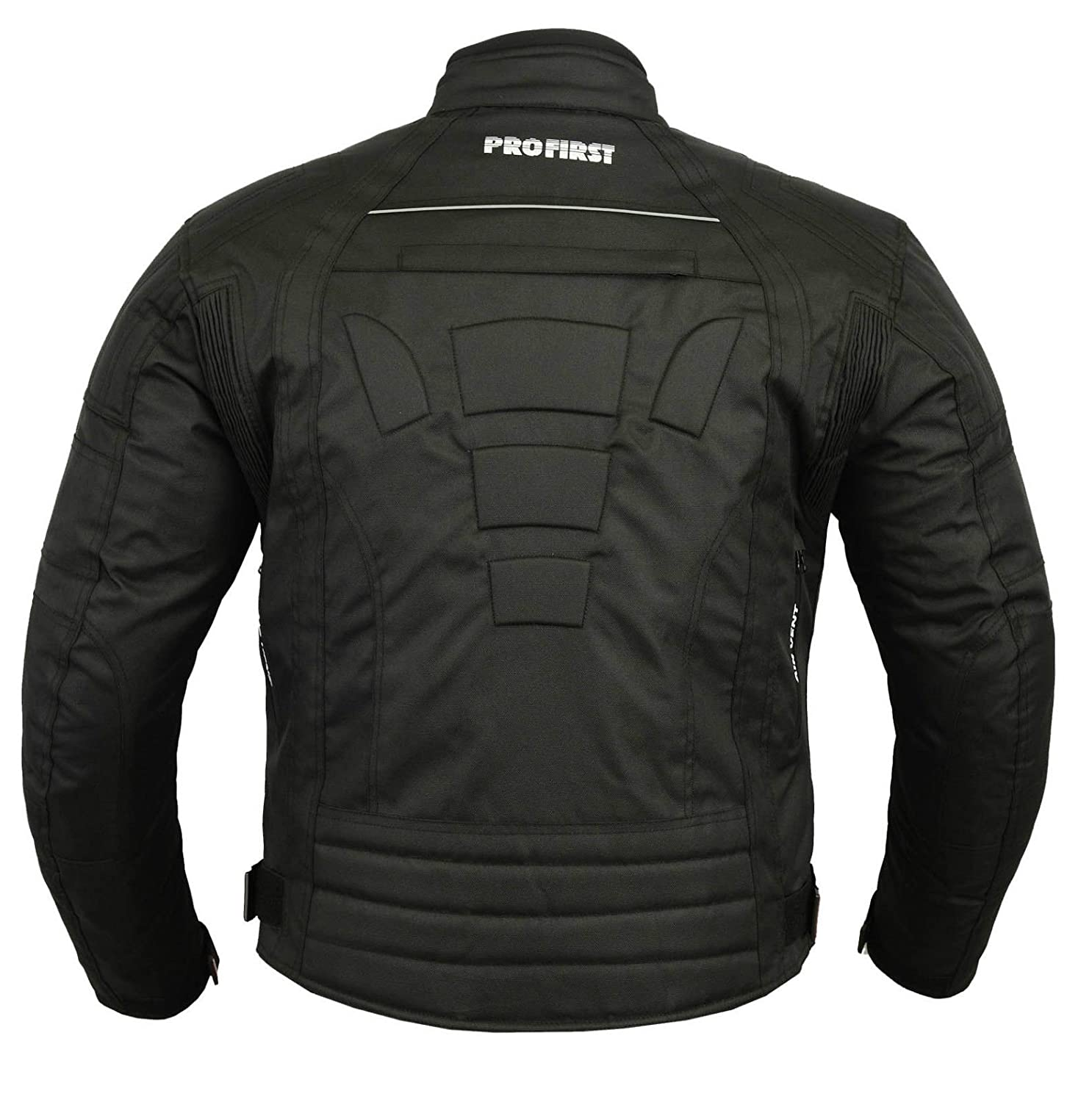 JKT-007 Waterproof Motorbike Motorcycle Jacket in Cordura Fabric and CE Approved Armour 6 Packs Design Most Popular Black /& Full Black, 3X-Large