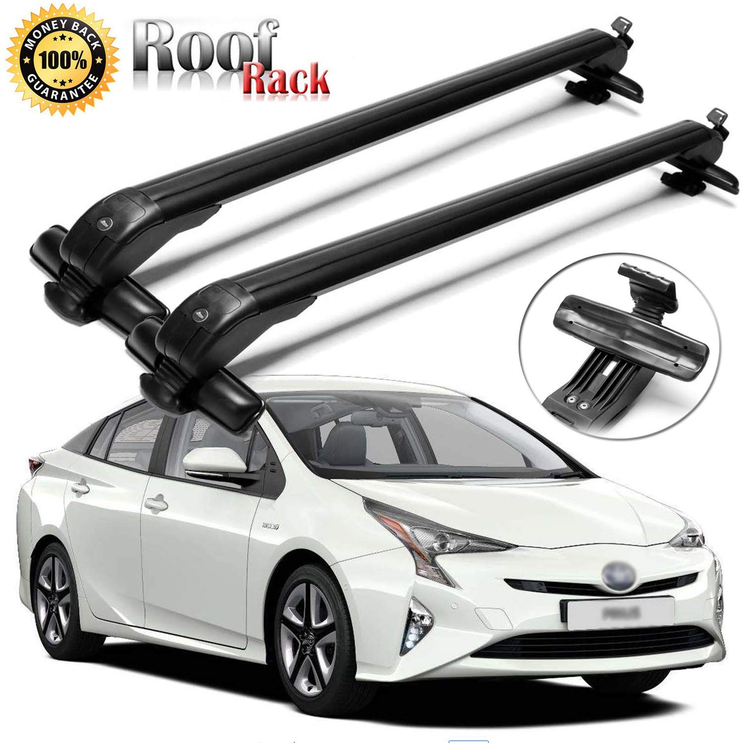 2Pcs SIKY Roof Rack 43 Adjustable Aluminum Roof Rack Cross Bars Top Luggage Carrier for Toyota Prius 2002-2016