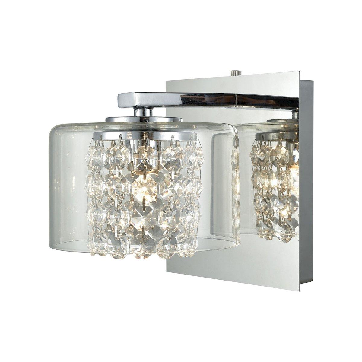 Elk lighting 32300 1 vanity lighting fixtures 5 x 6 x 7 chrome amazon com
