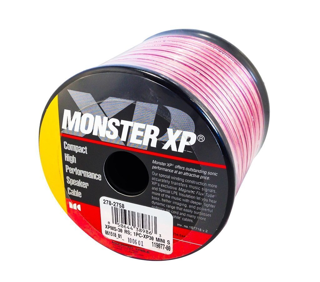 Monster Cable Xp Compact High Performance Clear Jacket Home Theater Wiring Speaker Wire 30 Ft Electronics