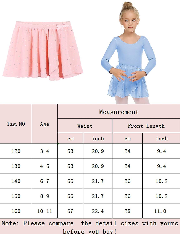 Zaclotre Girls Ballet Dance Skirt Chiffon Wrap Dancewear 2-Pack