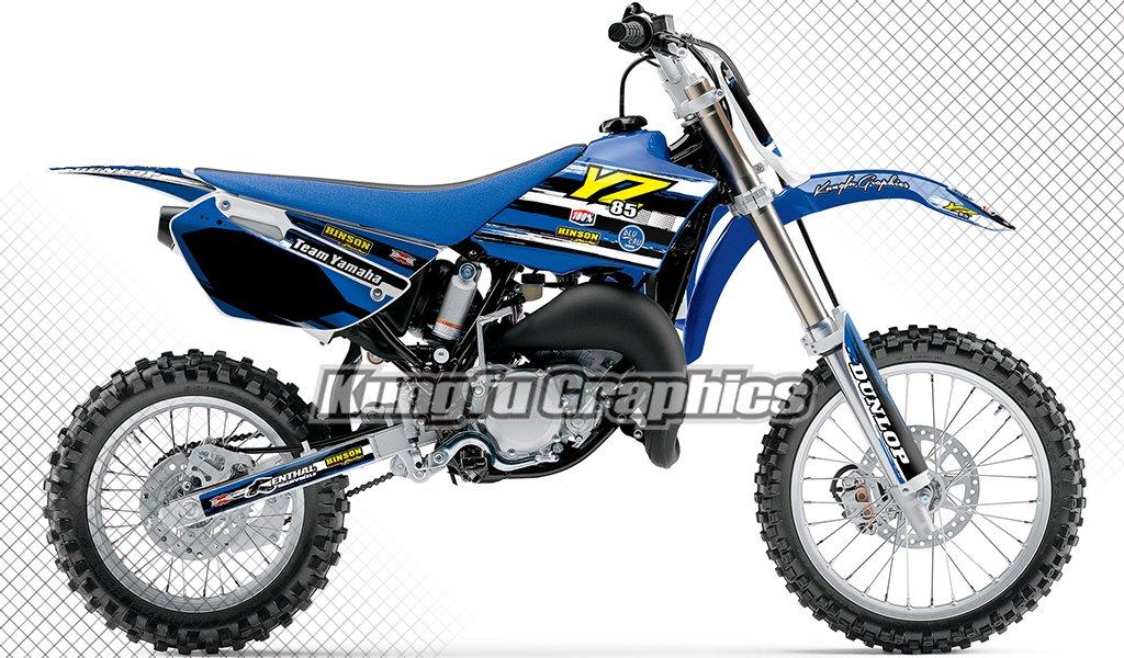 MXカスタムグラフィックスデカールキット、防水Sunproof、翼パターン、2002 2003 2004 2005 2006 2007 2008 2009 2010 2011 2012 2013 2014 Yamaha yz85 Available ブラック YMYZZ02140007 B073VDQBX6 style 004 style 004