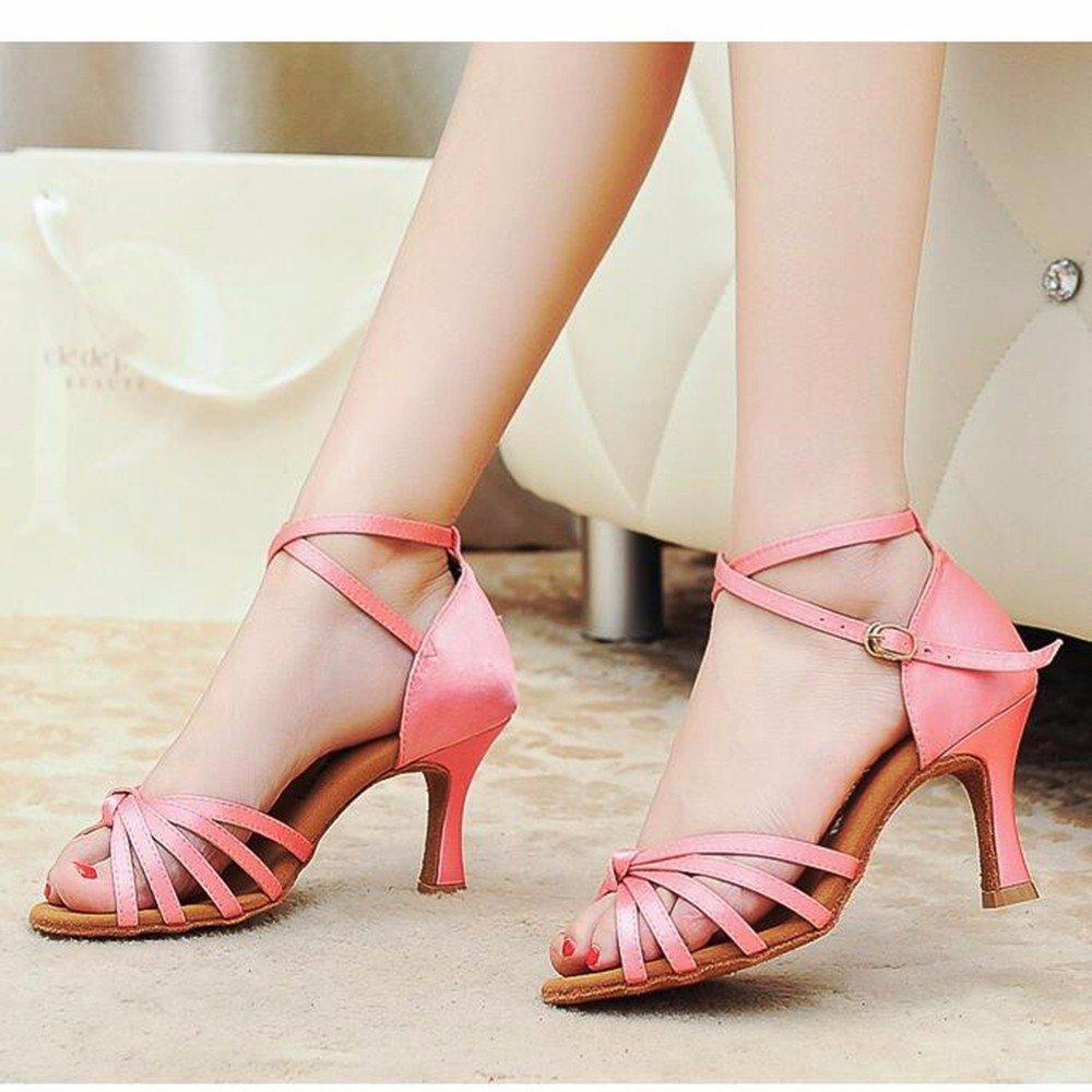 5,5 cm rose US6.5-7 EU37 UK4.5-5 CN37 Masocking@ Femme Chaussures de Danse Sandales Liens nœud