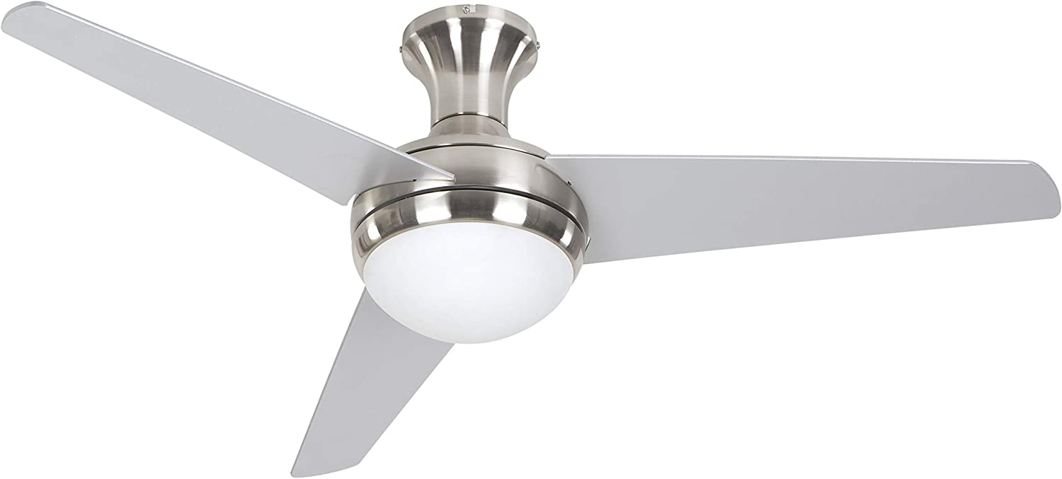 Yosemite Home Decor ADALYN-BBN 48-Inch Ceiling Fan in Bright Brush Nickel Finish with 16-Inch Lead Wire, Burnished Bronze
