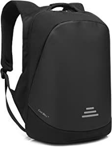 CoolBELL 17.3 Inch Laptop Backpack City Anti-Theft Bag with Code Lock Functional Travel Knapsack Light-Weight Water-Resistant Backpack with USB Port Charging Port for Men/Women (Black)