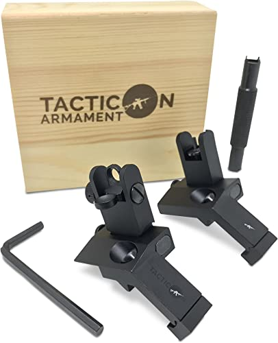 Tacticon 45 Degree Offset Flip Up Iron Sights for Rifle
