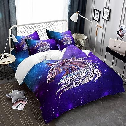 Amazon Com Oliven Quilt Cover Queen Size Purple Eagle Duvet Cover