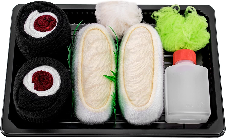Rainbow Socks - Mujer Hombre Calcetines Sushi Pampanito Maki de Atún - 2 Pares