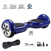 HoWay Self Balance Scooter 6,5 Zoll 700W mit Bluetooth Lautsprecher UL2272 LED Lights Elektro Scooter