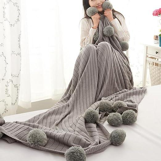 Manta para sofá o cama, 100 % algodón, punto de invierno, con ...