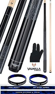 product image for Valhalla by Viking 2 Piece Pool Cue Stick Black VA111 Irish Linen Wrap 18-21 oz. Plus Billiard Glove & Bracelet