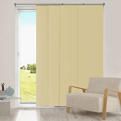 Superbe Chicology Adjustable Sliding Panels, Cut To Length Vertical Blinds,  Mountain Almond (Thermal)