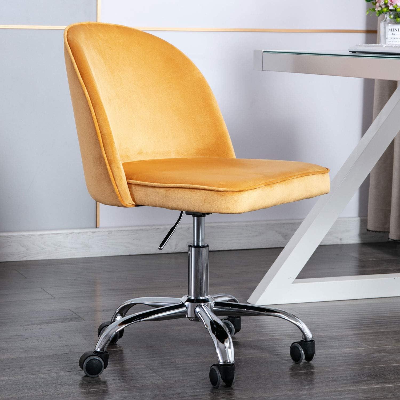 Amazon.com: Modern Swivel Desk Chair Accent Velvet Office Chair