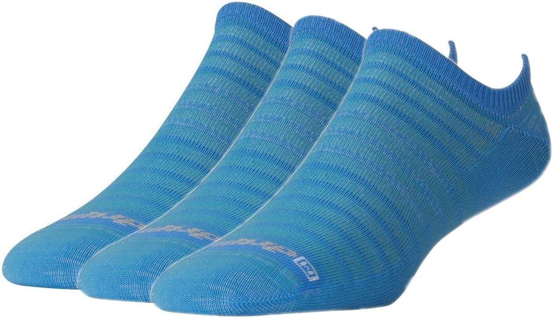 Drymax Hyper Thin Running No Show 3 Pair Big Sky Blue W5-7 // M3.5-5.5