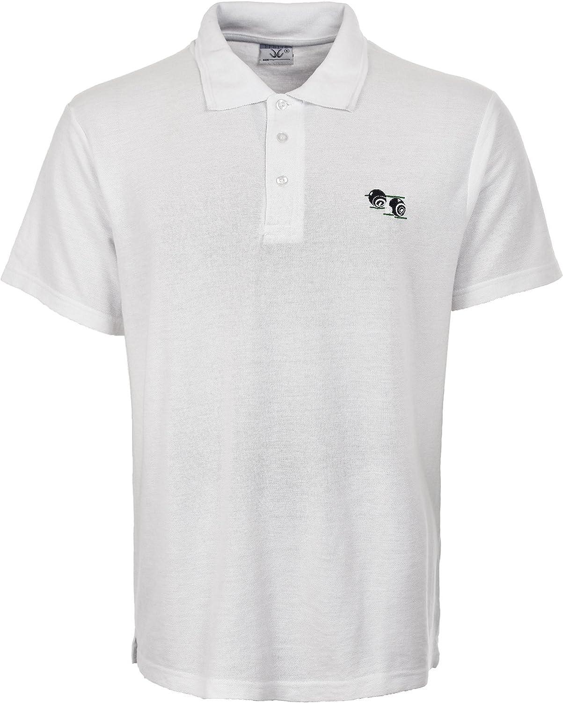 para Hombre de Bolos para Hombre T-Camiseta de Manga Corta de Color Blanco con Cuencos de Polo bolichistas Logo T-Camiseta de Manga Corta: Amazon.es: Ropa y accesorios