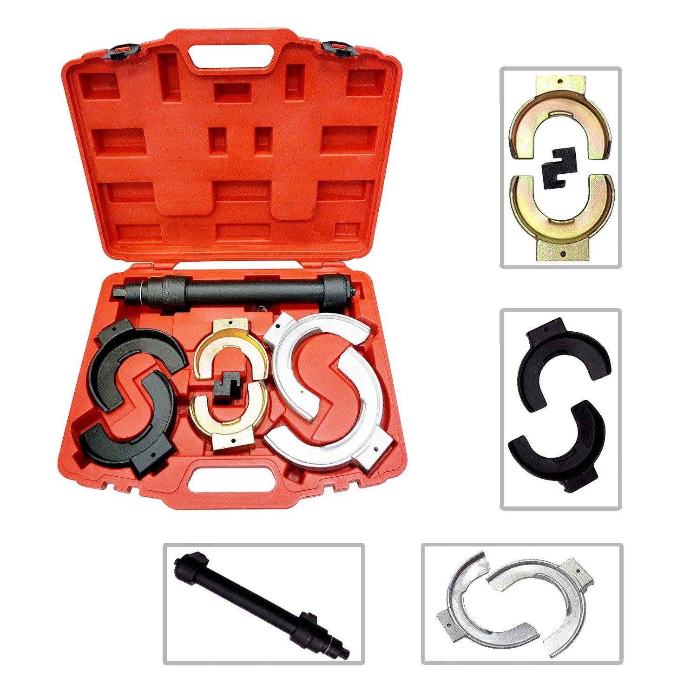 Todeco - Coffret Compresseur à Ressort, 11 Pièces de Réparation pour Compresseur à Ressort - Matériau: Acier C45 - Taille de la valise: 50 x 39 x 12 cm - avec une mallette rouge, 8 pièces 8 pièces