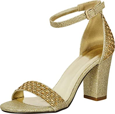 5f454a03271 Amazon.com  Cambridge Select Women s Open Toe Crystal Rhinestone Ankle Strappy  Block Heel Sandal  Shoes