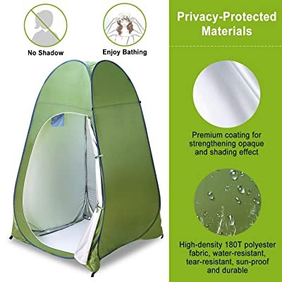RT Pop Up Shower Toilet with Bag Changing Room Portable Privacy Tent: Garden & Outdoor