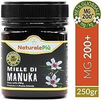 Miele di Manuka 200+ MGO (UMF 9+) 250 gr | Prodotto in Nuova Zelanda, Attivo e Grezzo, Puro e Naturale al 100% | Metilgliossale Testato |