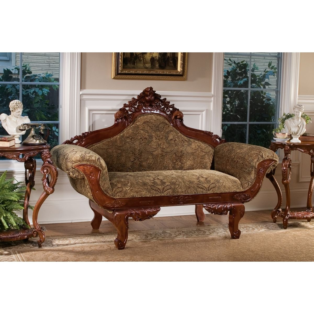 Amazon.com: Design Toscano Beauchamp Victorian Parlor Settee: Kitchen U0026  Dining