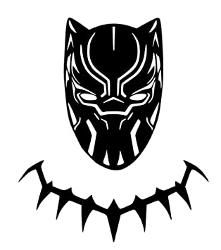 amazon com black panther new movie vinyl sticker decals for car rh amazon com black panther clipart free black panther clipart black and white