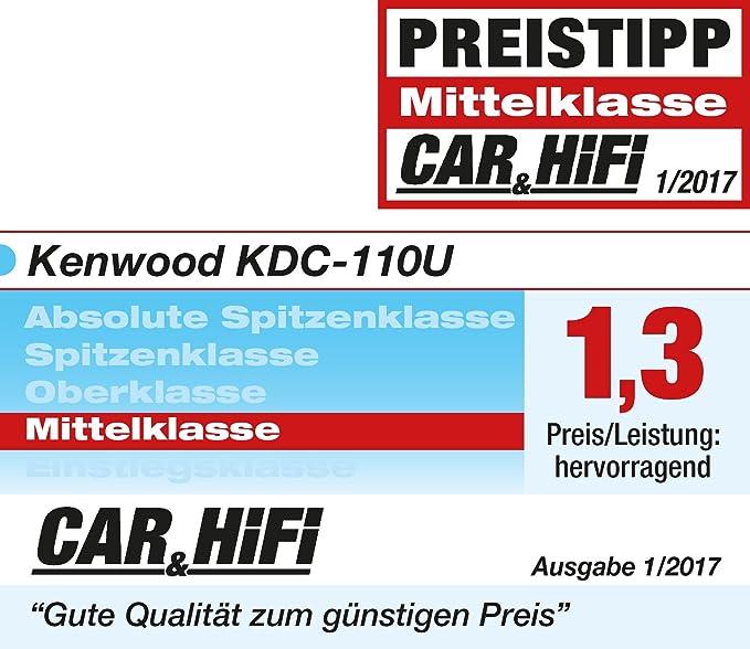 Kenwood KDC-130UB CD MP3 USB coche radio receptor RDS-iluminación azul clave