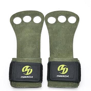 Nisrok Gymnastics Hand Grips, Crossfit Gloves Great for Pull Ups,Cross Training, Weightlfting,Powerlifting,Barbells,Kettlebells + Free Carrying Bag