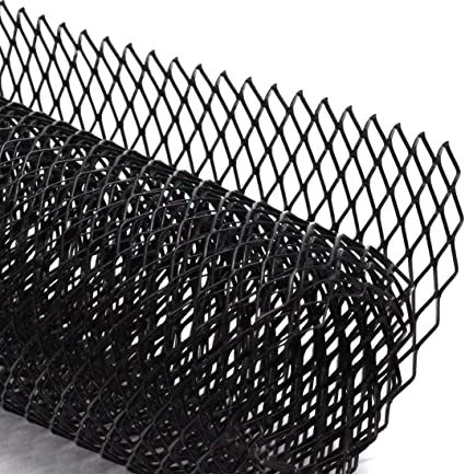 Car Mesh Grill Grille Cover Universal Aluminum Alloy Honeycomb Hole Mesh Grill Sheet Section Car Vehicle Body Grille Net Black Black Front Radiator Grille Grill