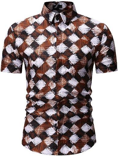 ZODOF Camisa Hombre de Creativo Divertido Camiseta Impresa Doble Cara Animal Cabeza Hombres Manga Corta Tops Blusa: Amazon.es: Ropa y accesorios