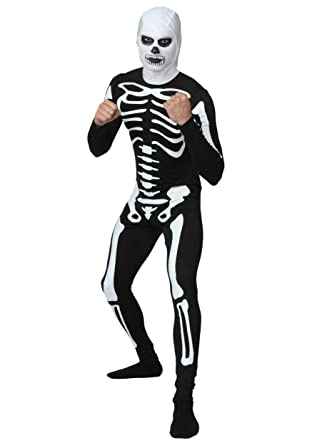 f0152f86e102d Amazon.com  Plus Size Karate Kid Skeleton Suit Costume 2X Black  Clothing