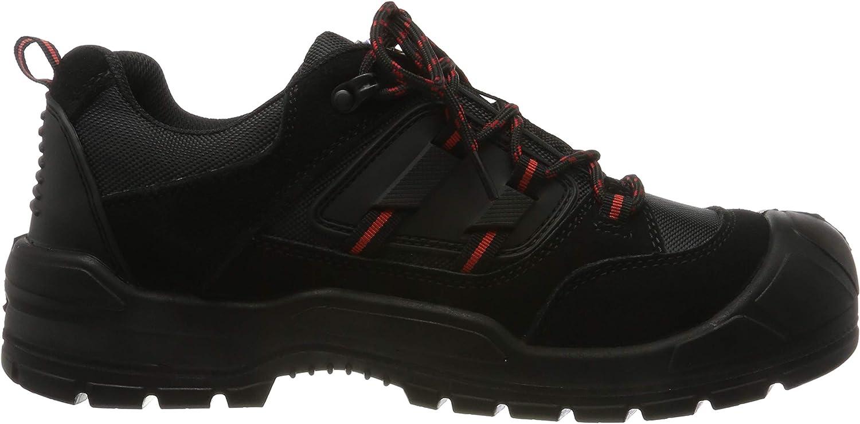 Chaussures de sécurité basses Dickies Everyday Noir/rouge.