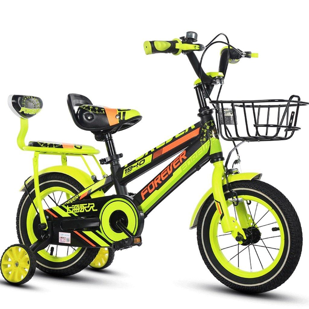 DGF 子供の自転車の男の子の女の子の自転車ペダル2-12赤ちゃんの屋外自転車 (色 : イエロー いえろ゜, サイズ さいず : 14 inches) B07F17K54J 14 inches|イエロー いえろ゜ イエロー いえろ゜ 14 inches