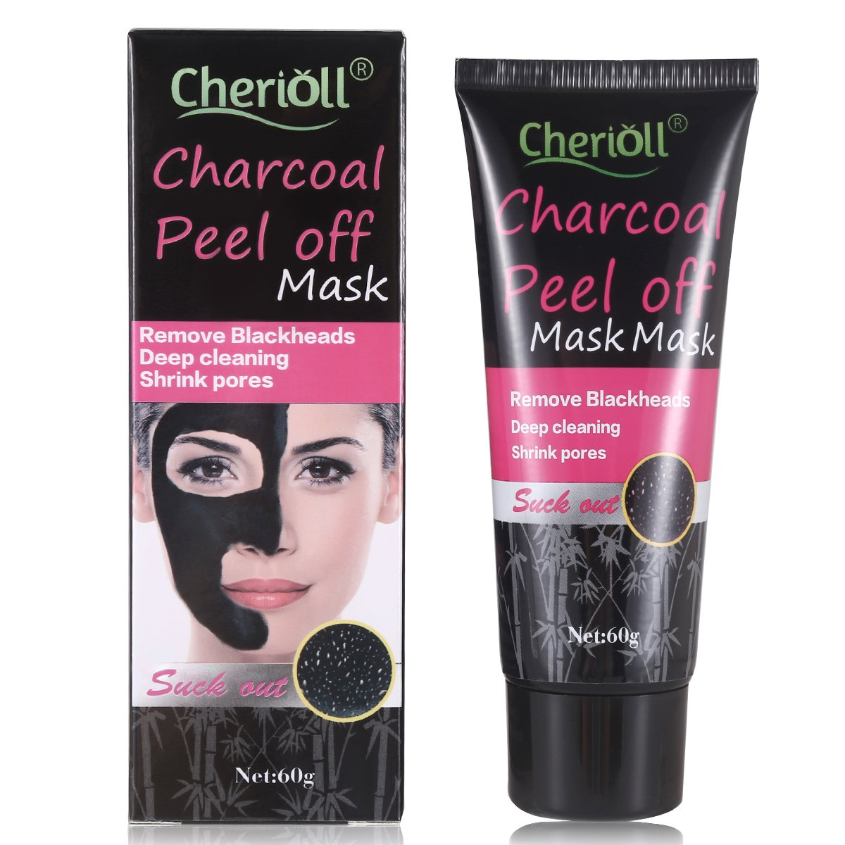 Blackhead Remover Mask,Black Mask,Bamboo Charcoal Blackhead Peel Off Mask ,Deep Cleansing Mask,Purifying Acne Blackhead Mask cherioll